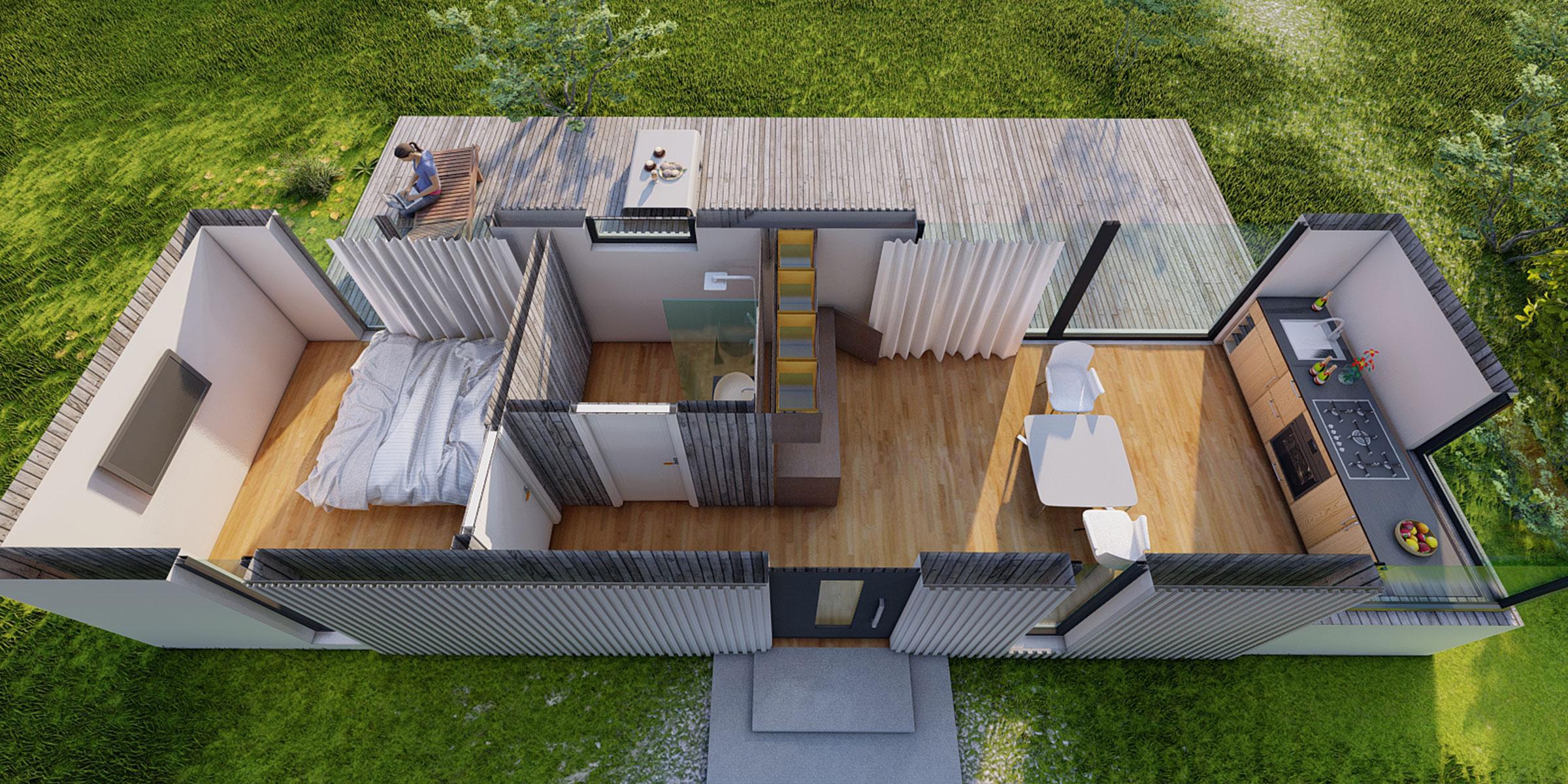 """Dom 35m2 - mały """"ciałem"""", wielki duchem - jak wykorzystać jego przestrzeń ?"""